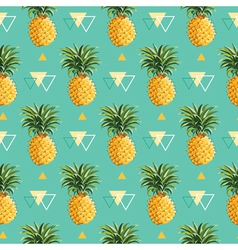 Geometric Pineapple Background - Seamless Pattern vector image