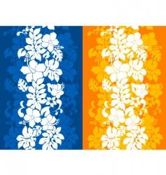 Hawaiian floral background vector
