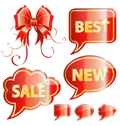 Holiday Speech Bubbles vector image