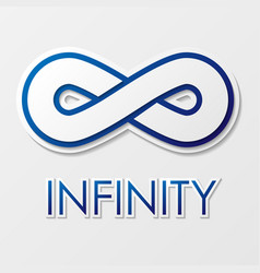 infinity symbol with text vector image vector image