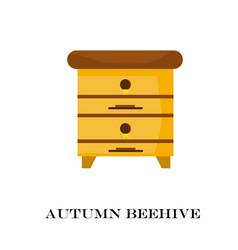 apiary honey bee house vector image