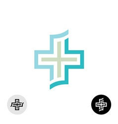 Cross logo vector image vector image