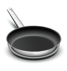 frying pan for cooking vector image vector image