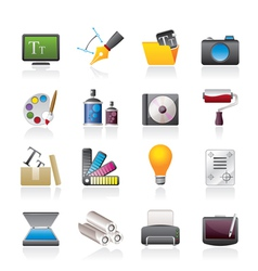 Graphic and website design icons vector image