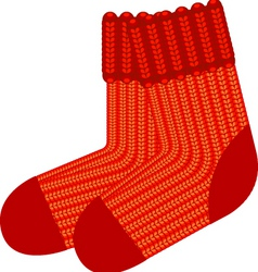 red sock vector image