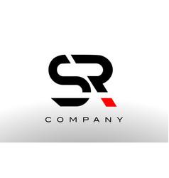 s r logo sr letter design vector image