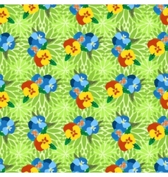 Seamless Pansy Floral Pattern vector image
