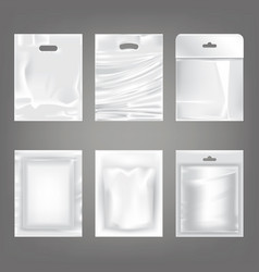 set of of white plastic empty vector image vector image
