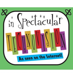 Spectacular Technovision Logo vector image vector image