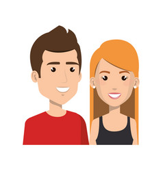 young couple avatars characters vector image vector image