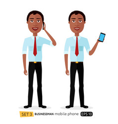african american business man is talking vector image