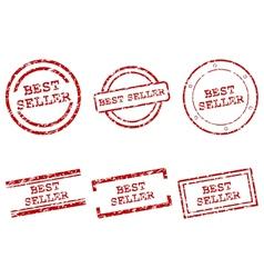 Best seller stamps vector image