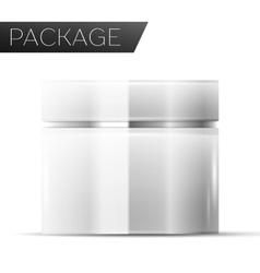 Cosmetic package for Cream vector image