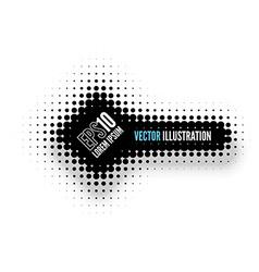 Halftone Banner vector image