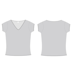 ladies vneck tshirt template vector image vector image