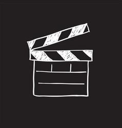 movie clapper board sketch vector image