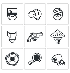 Set of Military Rehabilitation Icons vector image vector image