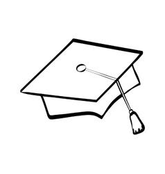 graduation cap icon University design vector image