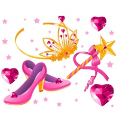 princess collectibles vector image vector image