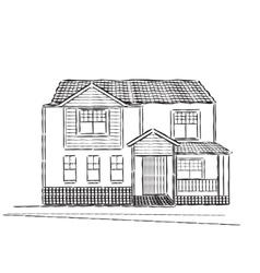 Sketch of village building vector image vector image