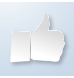 Thumbs up paper sign vector image