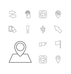 13 point icons vector