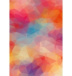 Abstract 2D triangle colorful background vector