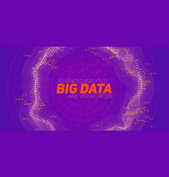 abstract big data visualization blue flow vector image