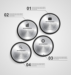 Abstract circle infographic design template vector image