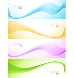 Abstract Wave blue and pink color vector