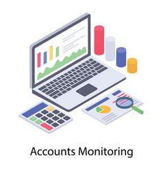 Accounts monitoring report vector
