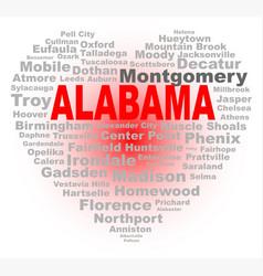 alabama heart vector image
