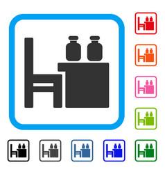 Apothecary table framed icon vector