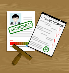 Approved loan application vector