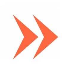 Arrow icon direction button pointer sign vector image
