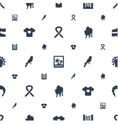 art icons pattern seamless white background vector image