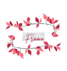 autumn red leaf vector image