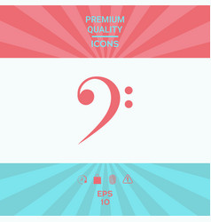 Bass clef icon vector