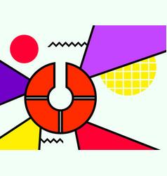Bauhaus background geometric elements memphis vector