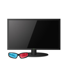 big screen tv vector image