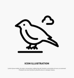 Bird british small sparrow line icon vector