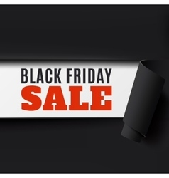Black Friday torn paper background vector