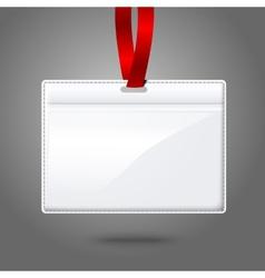 Blank realistic horizontal badge holder vector