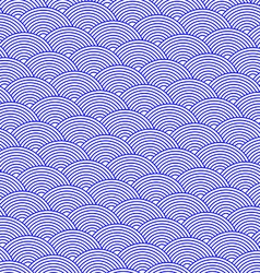 blue abstract background striped waves vector image