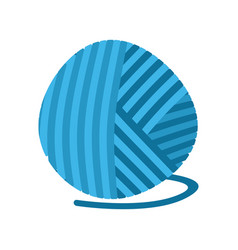 blue ball of yarn threads bundle of wool for vector image