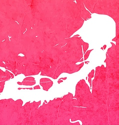 Bright Pink Paint Splash Background vector image