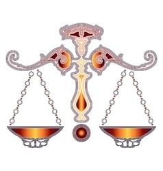 Bright scales zodiac Libra sign vector