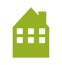 Building green ecology icon vector