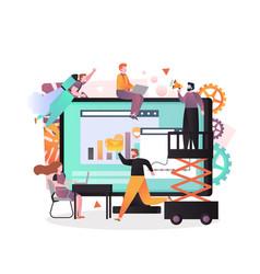 business concept for web banner website vector image