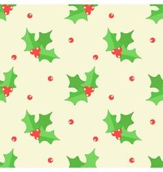 Christmas mistletoe seamless pattern background vector